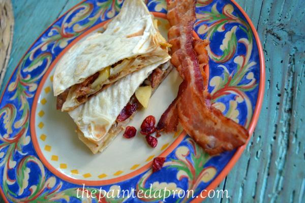 apple pie quesadilla the paintedapron.com 1
