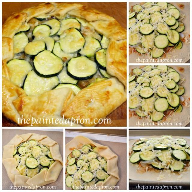 zucchini galette Collage
