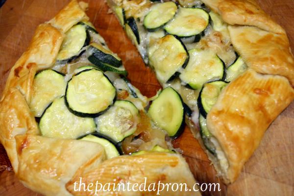 zucchini garlic gruyere galette thepaintedapron.com
