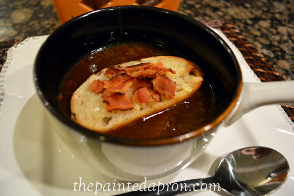 french onion soup with beer and bacon thepaintedapron.com