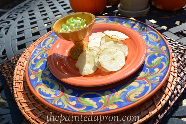 microwave potato chips thepaintedapron.com