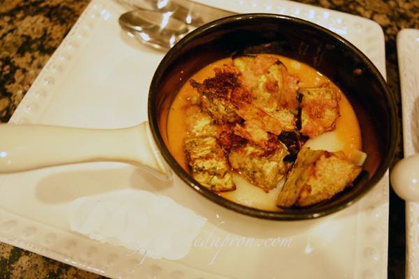 eggplant parmigiana soup thepaintedapron.com