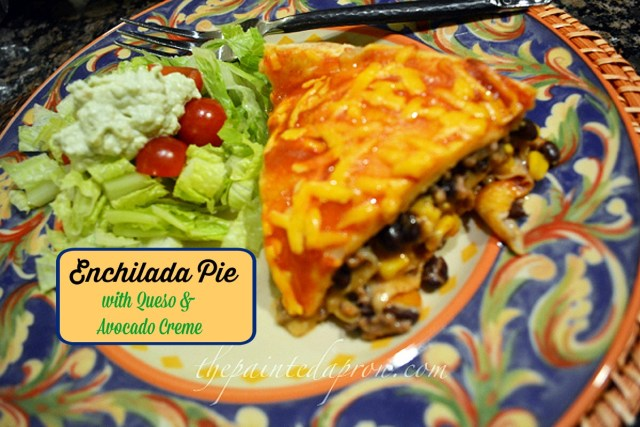 enchilada pie 3 thepaintedapron.com