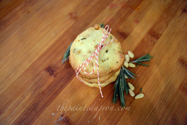 rosemary pine nut cookies thepaintedapron.com