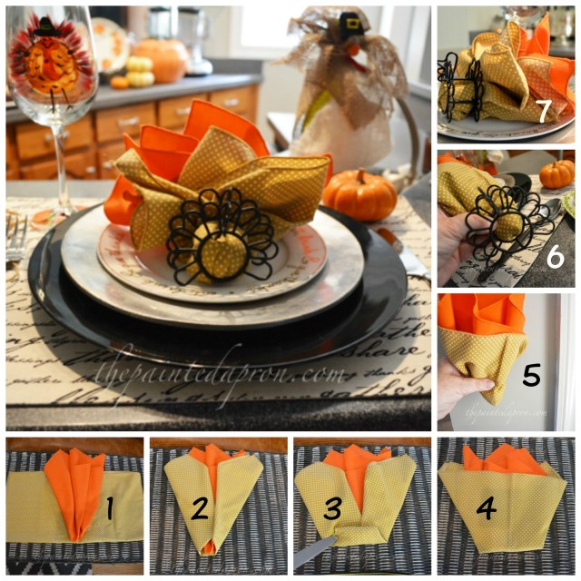 turkey napkin fold