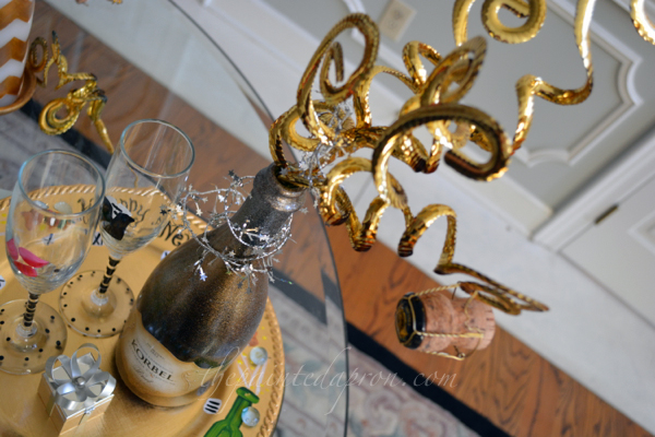champagne bottle thepaintedapron.com