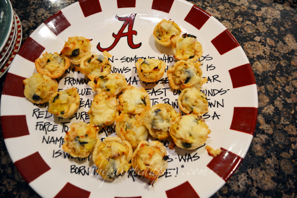 chicken, artichoke spinach tartlettes 3 thepaintedapron.com