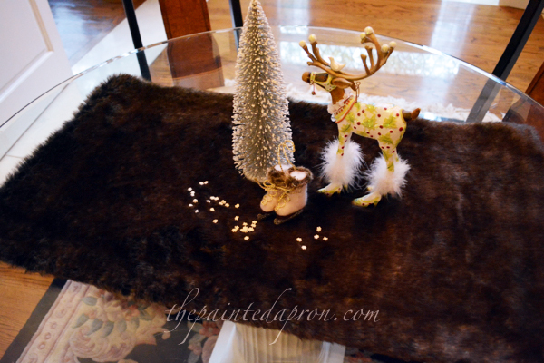 fur table topper thepaintedapron.com