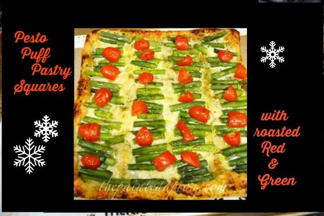 pesto pastry with roasted veggies thepaintedapron.com