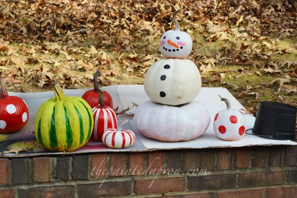 pumpkin snowman thepaintedapron.com