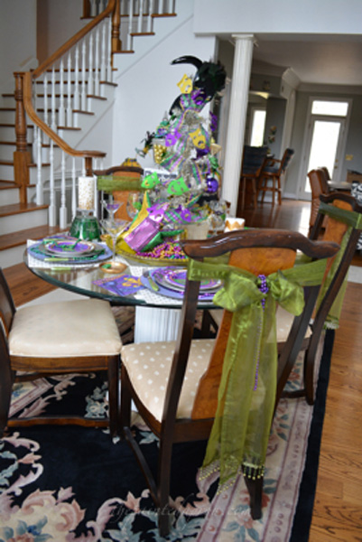 Mardi gras party thepaintedapron.com