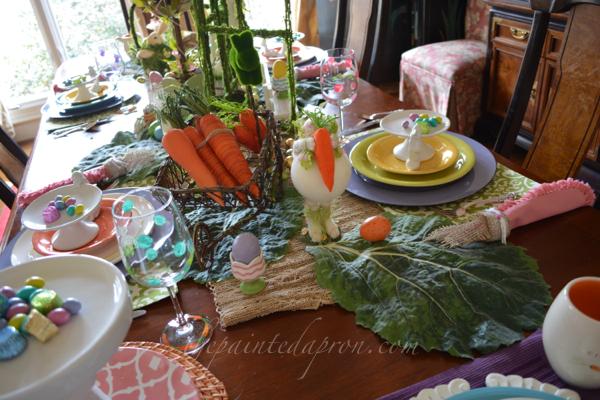 busy bunny table 2 thepaintedapron.com