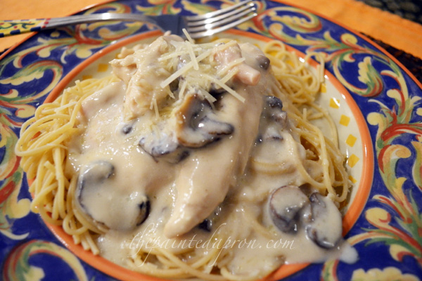 Chicken with sherry and mushrooms thepaintedapron.com