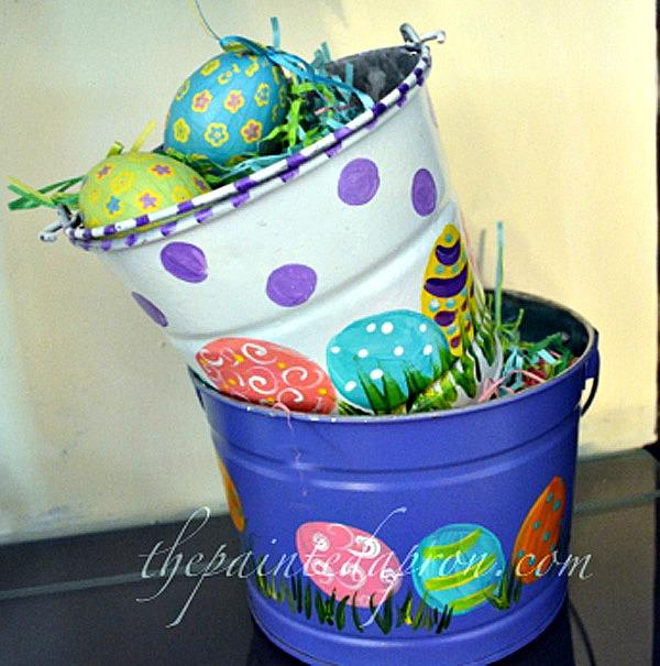 Easter egg buckets thepaintedapron.com