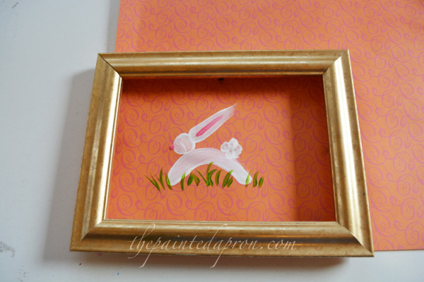 framed bunny thepaintedapron.com