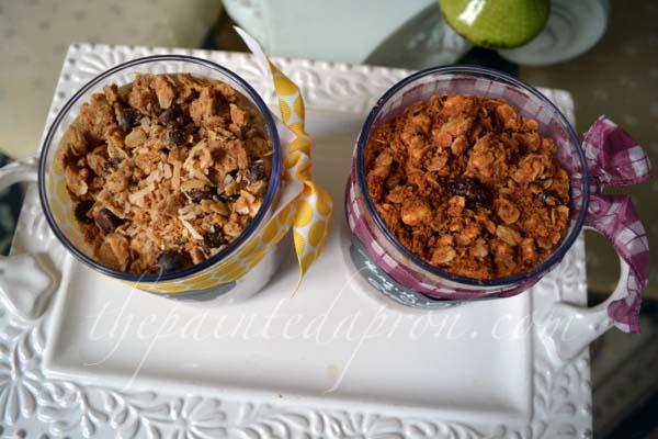 homemade granola thepaintedapron.com