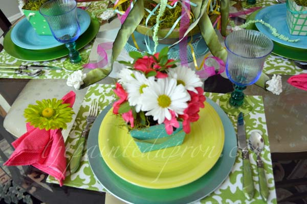 Mayday place setting thepainedapron.com