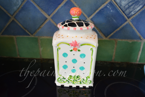 pattern painted canister thepaintedapron.com