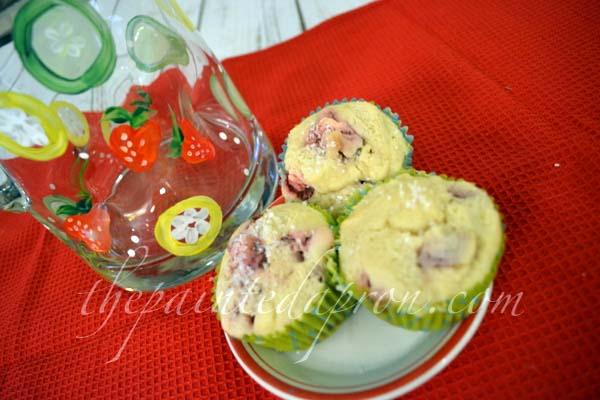 strawberry muffins 1 thepaintedapron.com