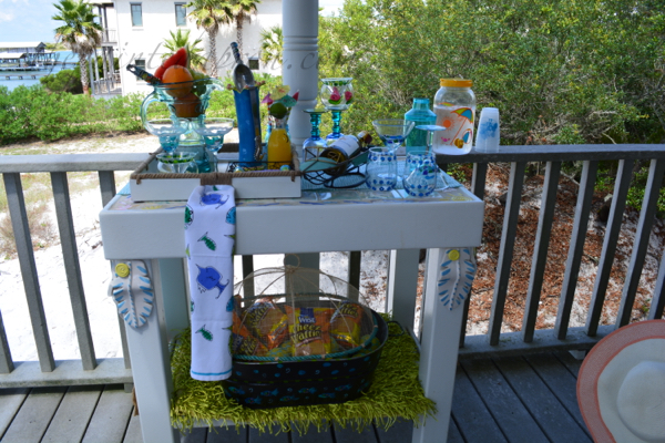 summer bar cart 1 thepaintedapron.com