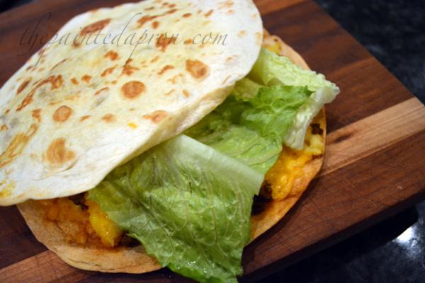 taco corn quesadilla 1 thepaintedapron.com