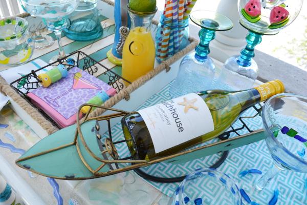 wine boat thepaintedapron.com