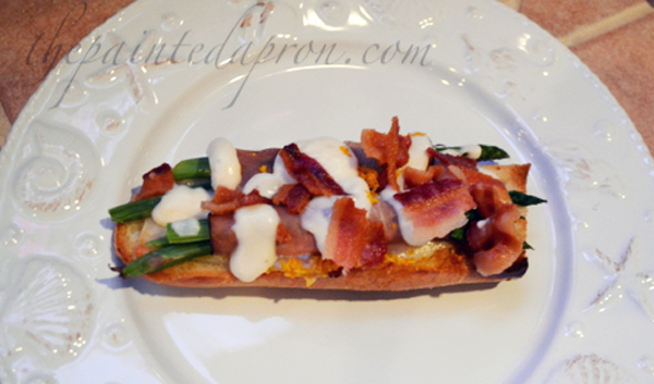 bacon topped ham and asparagus roll thepaintedapron.com