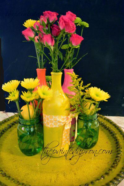 bling vase grouping thepaintedapron.com