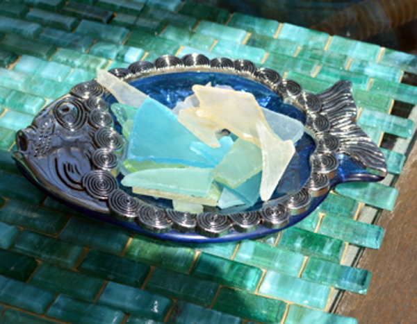 sea glass bowl thepaintedapron.com