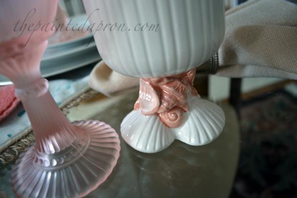 shell goblet thepaintedapron.com