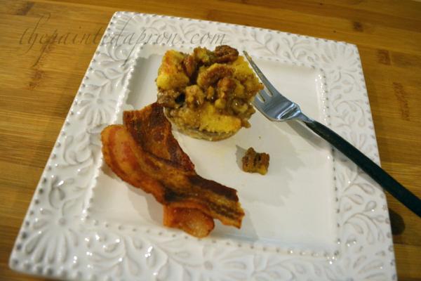 bread pudding muffin thepaintedapron.com