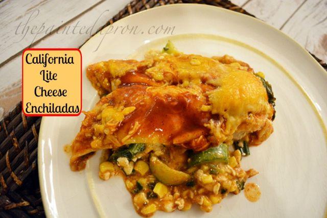 Calif lite enchiladas thepaintedapron.com