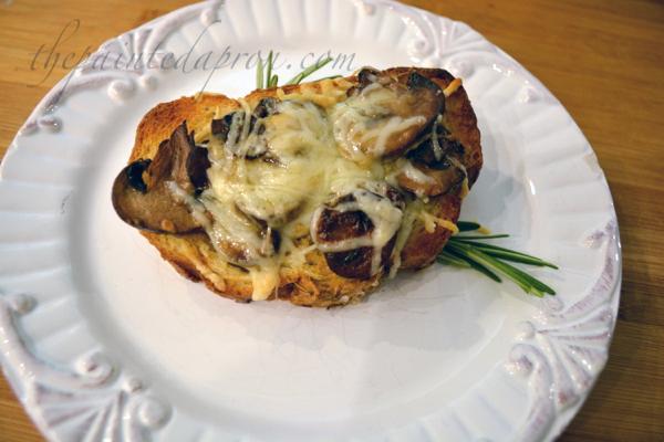 mushroom rosemary sea salt toast thepaintedapron.com