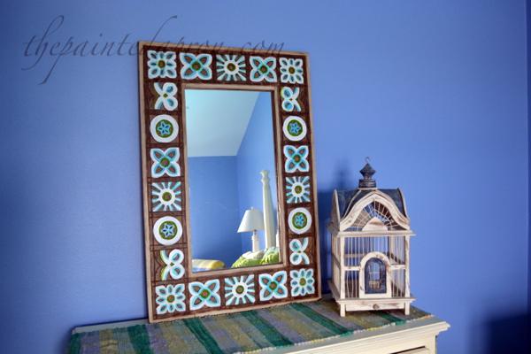 painted dresser mirror thepaintedapron.com