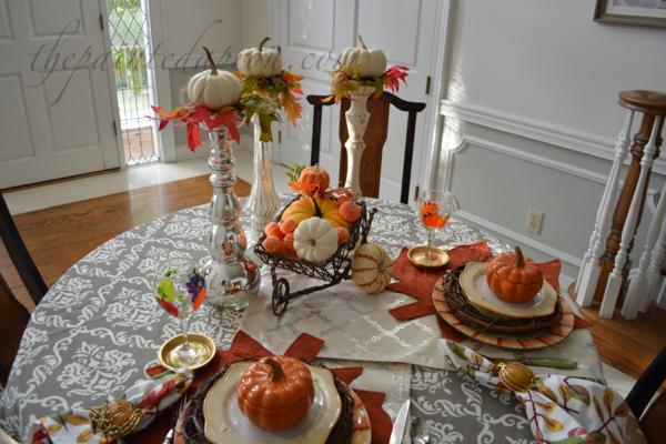 pumpkins and leaves thepaintedapron.com