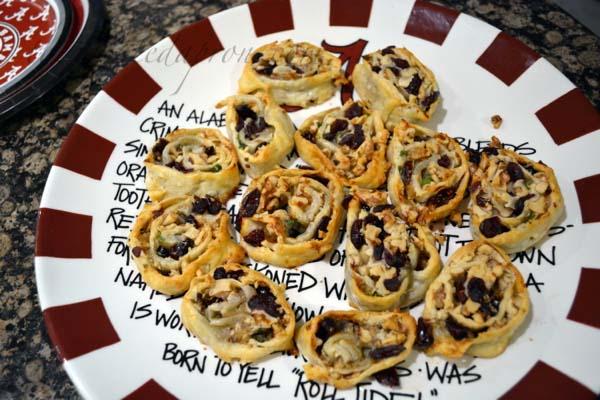 cranberry walnut pie spirals