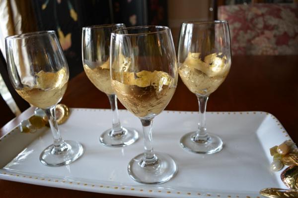 gold leaf glasses