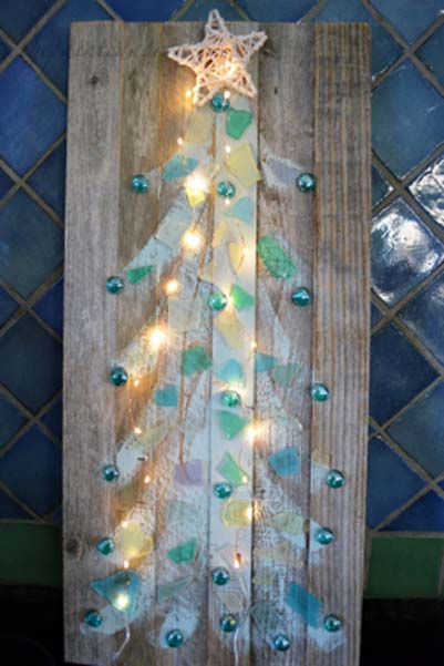 lighted sea glass tree