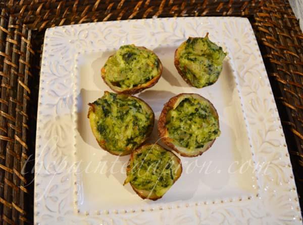 spinach soufflé potatoes