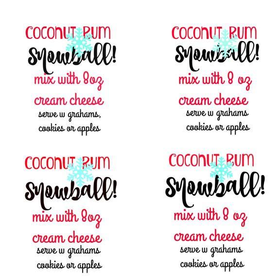 coconut rum snowball