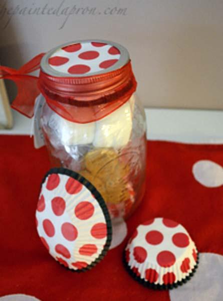 decorate jar lid