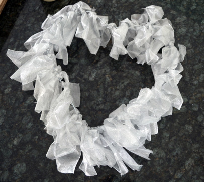 silver ribbon heart