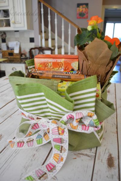 dish towel gift basket