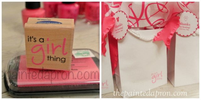 pink polish hostess gift