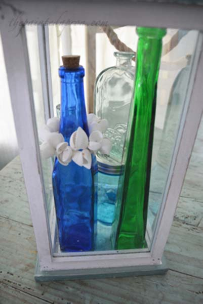 bottles in a lantern