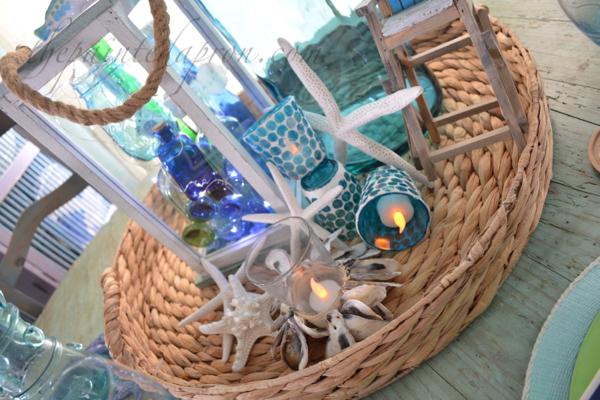 candles & bottles centerpiece 3