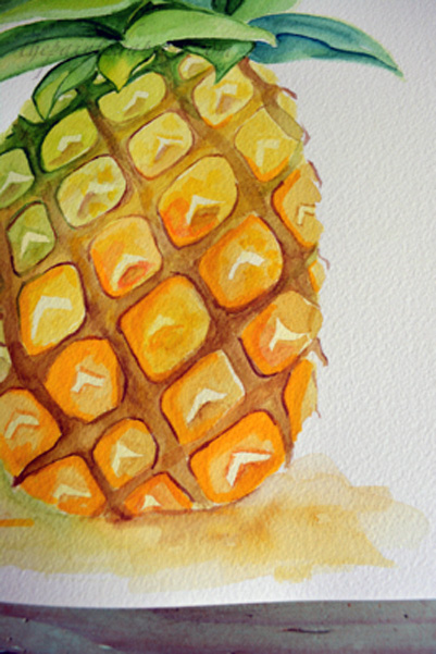 pineapple close-up