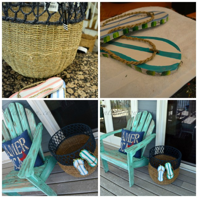 flip flop beach basket