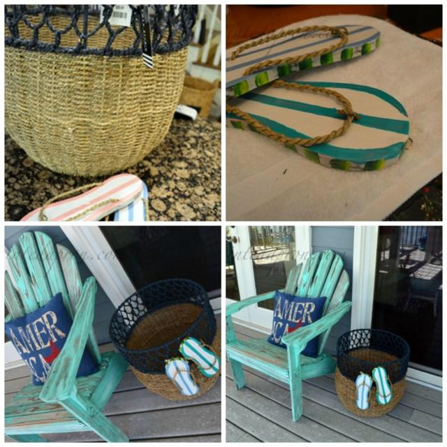 flip flop beach basket