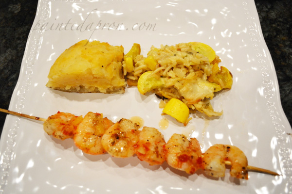 pineapple, coconut sweet chili shrimp